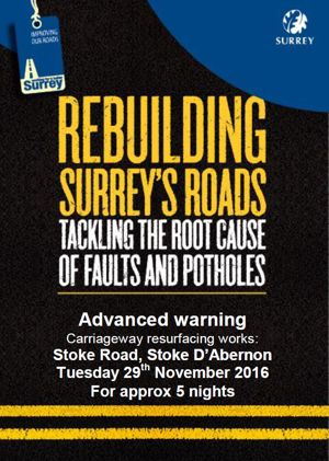 Stoke Road Roadworks